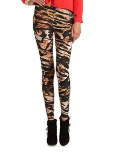 Tiger Stripe Cotton Legging: Charlotte Russe