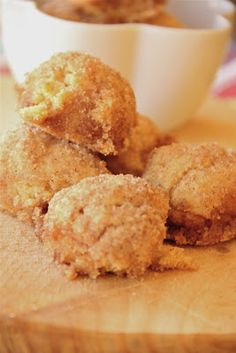 """Baked Cinnamon Breakfast Bites   Blogger says, """"They are like a donut, they're so crispy and crunchy with the butter and cinnamon sugar on the outside, and then the inside is so soft and heavenly."""
