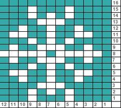 Tricksy Knitter Charts: Dainty Snowflake Stocking (71719)
