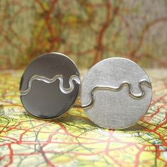 Thames Cufflinks | Contemporary Cufflinks by contemporary jewellery designer Hannah Louise Lamb
