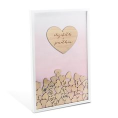 $31.99 On Sale for a Limited Time. Wedding Guest Book Alternative Drop Box with 100 Hearts