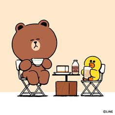 BROWN PIC is where you can find all the character GIFs, pics and free wallpapers of LINE friends. Come and meet Brown, Cony, Choco, Sally and other friends! Line Brown Bear, Brown Line, Simple Character, Character Design, Cony Brown, Cute Love Pictures, New Toy Story, Cute Couple Cartoon, Kakao Friends