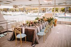 Los Angeles Yacht Wedding Ideas || Luxe Linen and Brian Leahy || The Southern California Bride || November 9th, 2016