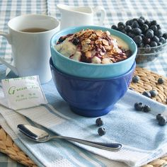 Blueberry Cobbler Oatmeal-2 By Sonia! The Healthy Foodie, Via Flickr
