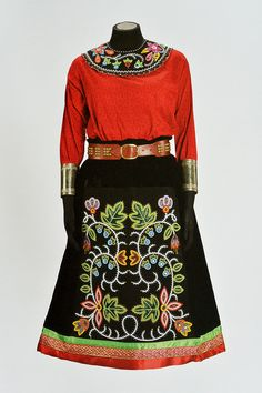 Delina White - Native Arts and Cultures Foundation Native American Clothing, Native American Regalia, Native American Beadwork, Native American Fashion, Native Fashion, Native Beadwork, Jingle Dress, Ribbon Skirts, Native Style