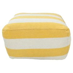 This handmade striped pouf brings a pop of color and versatile style to your decor, whether as an ottoman, offering guests an extra seat, or creating a cozy ...