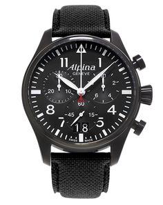 Alpina 1883 Genève, Alpina Watches, Collection, startimer, Pilot, Chronograph Big Date Black
