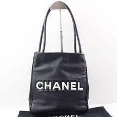 Authentic Chanel Shoulder Bag Black leather France 18843