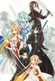 ソードアート・オンライン Sword Art Online Kirito and Asuna Manga Anime, Otaku Anime, Film Anime, Manga Girl, Anime Girls, Schwertkunst Online, Online Anime, Sword Art Online Asuna, Kirito Asuna