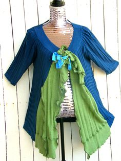 Reconstructed Spring Sweater Vest by JacketsbyJahne on Etsy, $78.00
