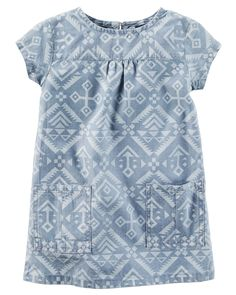 $9 Baby Girl Chambray Southwest Dress | Carters.com