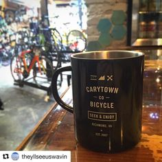 Come get cozy with us. x CBC blend is in stock at both locations Repost Found the motivation I needed Getting Cozy, Bicycle, Motivation, Mugs, My Style, Tableware, Instagram Posts, Ideas, Bike
