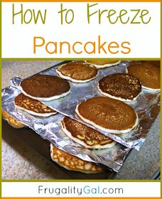 How to freeze pancakes. Easy way to make freezer pancakes that prevents them from sticking together.