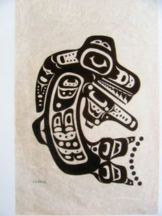 Charles B Greul Silkscreen on Rice Paper Inuit Eskimo Indian Art | eBay