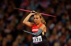 Germany's Laura Darimont runs in to make a throw in the Women's javelin F46 category event during the athletics competition at the 2012 Paralympics, on Sept. 1. (Matt Dunham/Associated Press)