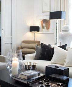 New living room white black grey lamps 55 Ideas Black Decor, Home Interior Design, Living Room White, House Design, Interior Design, House Interior, Home, Interior, Living Decor