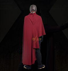X-Men Days of Future Past Erik Lehnsherr Magneto Young Cosplay Costume Superhero Movie Costume for Men Red Cloak Full Plugsuit