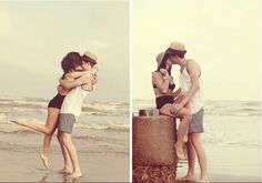 Cute! Maybe use for different season photos for first year of marriage, too cold for beach attire.