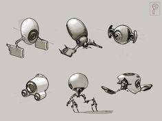 Fun robots concept by Papierpilot on deviantART