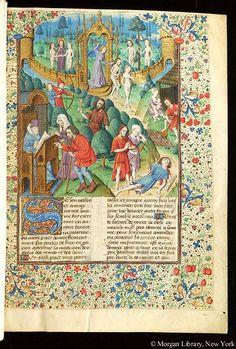 Cas des nobles hommes et femmes malheureux, MS G.35 fol. 1r - Images from Medieval and Renaissance Manuscripts - The Morgan Library & Museum