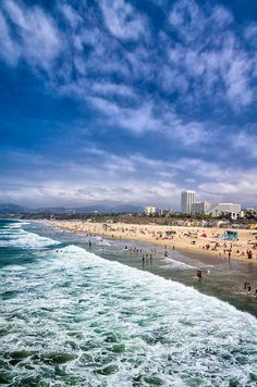 Santa Monica Beach, California- First and last stop when we visit! #memories #youngwildandfree