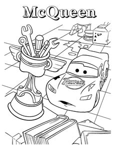 Lightning Mcqueen colouring pages for kids printable
