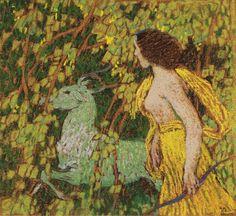 """Diana hunting Art by Czech painter Jan Preisler Diana, Art Nouveau, Modern Art, Contemporary Art, Hunting Art, Paul Gauguin, Art Archive, Close Image, Les Oeuvres"