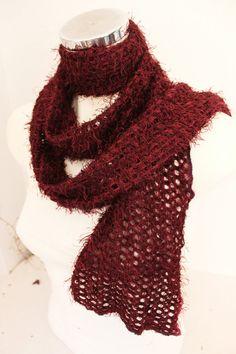 Bordeaux knitting shawls, Maroon men's scarf, Men's scarves burgundy, Maroon men's accessories, burgundy scarf, Burgundy long shawl