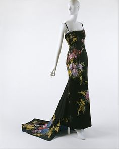whenasinsilks: Evening dress, Dolce & Gabbana, painted silk satin, Fall/Winter 1998/99, Italian. Metropolitan Museum of Art accession ...