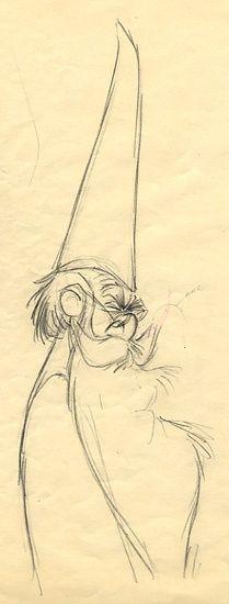 Los sketches originales de Walt Disney
