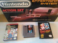 Nintendo NES Action Set Gray Console(NTSC) 1985 #Nintendo
