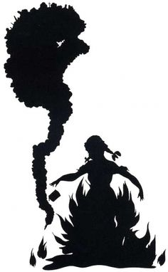 "Kara Walker, ""Burn,"" 1998."