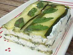 Lasagnes du potager courgettes et menthe