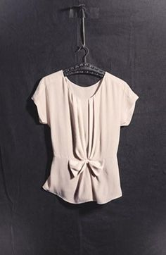 The cutest bow blouse I ever did see...