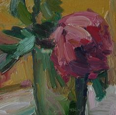 Pink Rose, painting by artist Kathryn Townsend