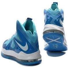 http://www.asneakers4u.com/ Nike LeBron 10 Elite Ice Blue/White Sale Price: $77.30