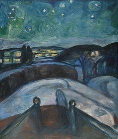 Edvard Munch, Starry Night, 1922-1924, Museo Thyssen-Bornemisza