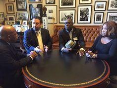 Notes from the Cuban Exile Quarter: Historic meeting between American and Cuban human rights defenders. Rep. John Lewis, Eddy Acevedo,  Jorge Luis García Pérez Antúnez, Yris Pérez Aguilera. 1/22/15.