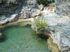 Βάθρα στο χωριό Σκρά - Βόρεια Ελλάδα River, Outdoor, Outdoors, Rivers, The Great Outdoors