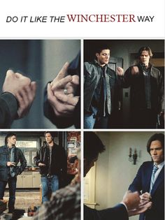 While it SHOULD say, do it the Winchester way... I LOVE this GIFset.