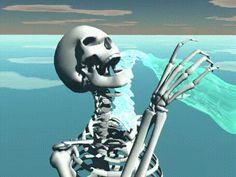 skeleton slimepunk seapunk icepunk cybrfm webart