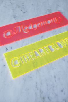 laser cut acrylic instagram signs