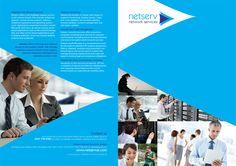Netserv rebrand brochure design (front/back cover)