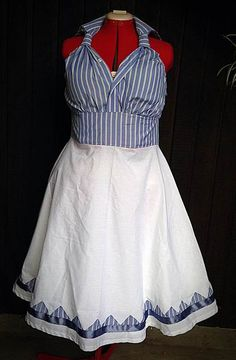 Tutorial - Collette's Mens shirt refashion into a 1950s Day Dress