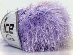 8 Balls Eyelash, Light Lilac, Novelty Yarn,50g(1.76oz)/ball, 75m(82yd)/ball, Needle Size 6- 7mm, Wholesale Lot by GoodChoiceYarns on Etsy
