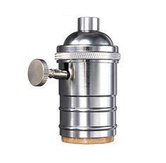 Masívnaantickáobjímka na žiarovky s päticou E27.Vyrobená z kvalitnej mosadze s rúrkovým dizajnom a nastaviteľnou skrutkou.