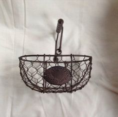 Wire Basket French Vintage Egg Basket by AlfiejayneVintage on Etsy, €25.00