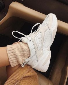 Cosy chic Shop via the link in bio . Dad Shoes, Girls Shoes, Me Too Shoes, Shoes Women, White Tennis Shoes, Tennis Shoes Outfit, Dad Sneakers, White Sneakers, Sock Shoes