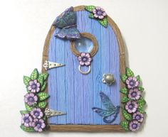 Sky Blue Lilac Fairy Door | Flickr - Photo Sharing!