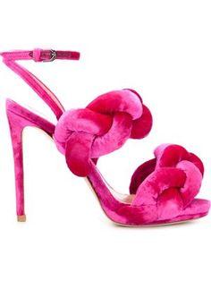 woven velvet sandals